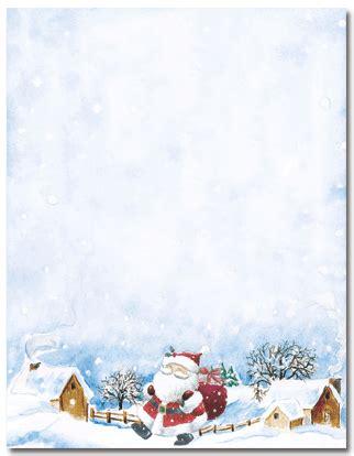 printable santa border paper christmas letter stationery new calendar template site