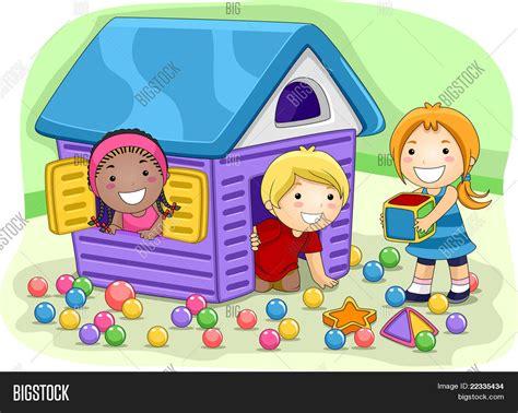 imagenes de niños jugando y compartiendo vector y foto ilustraci 243 n de ni 241 os jugando en bigstock