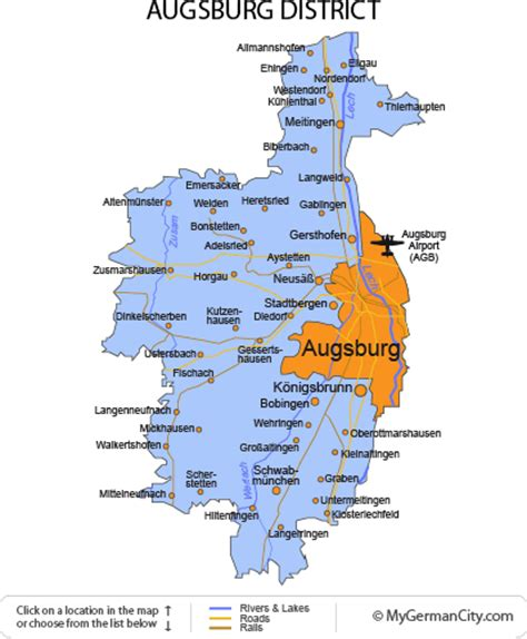 map augsburg germany opinions on augsburg district