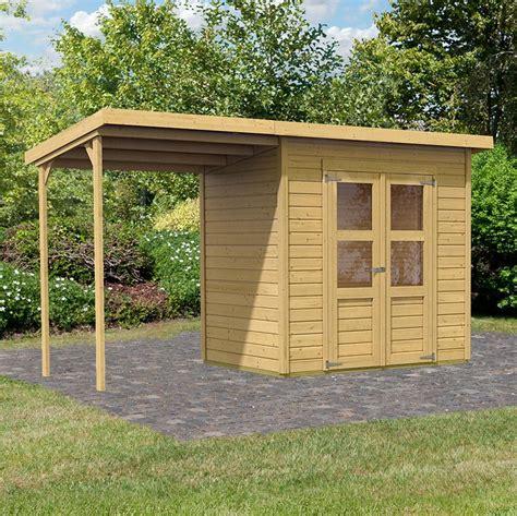 abri de jardin avec appentis bois kit 233 conomique abri de jardin 4 53m 178 14mm merseburg 4 appentis 3 16m 178 karibu