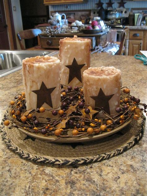 Primitive candles and stars centerpiece ideas for the house pinterest