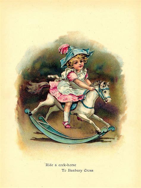 vintage nursery rhyme printable banbury cross  graphics fairy