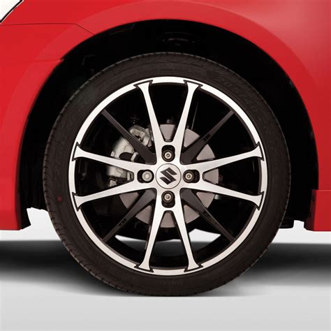 suzuki messina alloy wheel in black polished design
