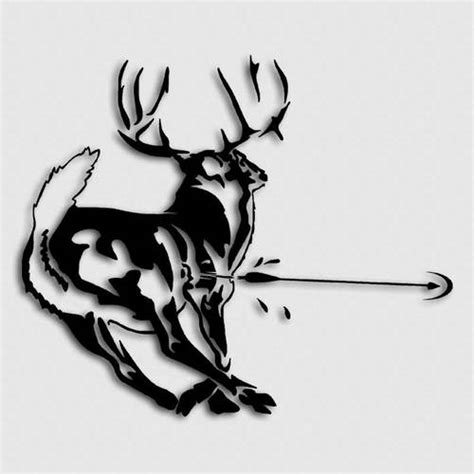 bow decal archery hunting whitetail deer decals bow hunter