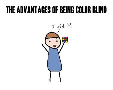 color jokes the advantages of being color blind