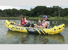 Intex Explorer K2 Inflatable Kayaks - YouTube Kayak Explore