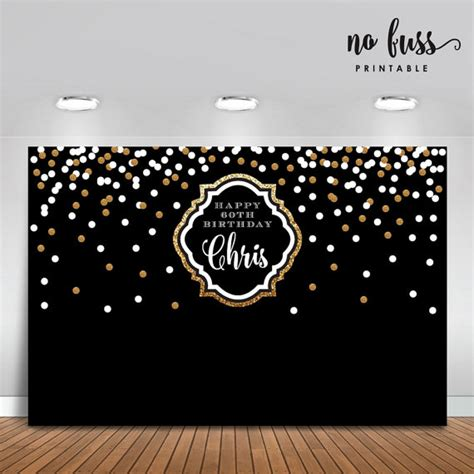 backdrop design for retirement black and gold backdrop adults party banner poster
