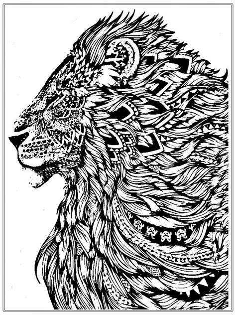 lion coloring page for adults realistic lion adult coloring pages free realistic