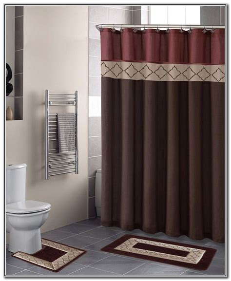 bathroom shower curtain and rug set bathroom sets with shower curtain and rugs decor