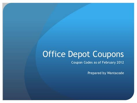 office depot coupons that do not exclude technology office depot coupons 2012 coupon codes