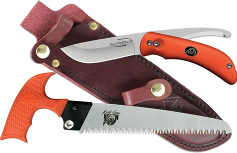 outdoor edge swing blade swingblade pak skinning knife and saw set outdoor edge