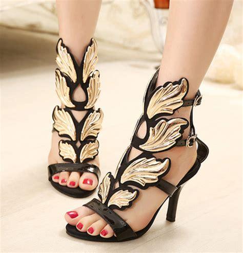Sale Boots Bulu shoes black leaves heel fashion wheretoget