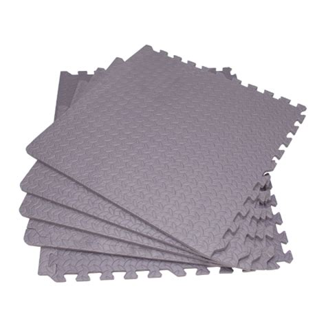 Cushion Floor Mats by Interlocking Cushioned Floor Mats Patio Play Area Grey Ebay