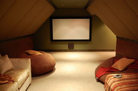 cool attic attic home theater room home decorating ideas