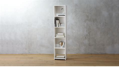 narrow bookcase getaway narrow bookcase cb2