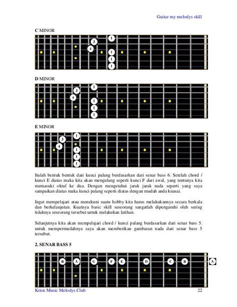 belajar kunci gitar jarak dan kita belajar gitar dasar disertai gambar