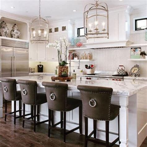 kitchen island with stools 18 stylish bar stools for your kitchen
