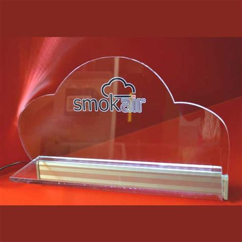 mensola illuminata mensola plexiglass illuminata a led smokair ludovic