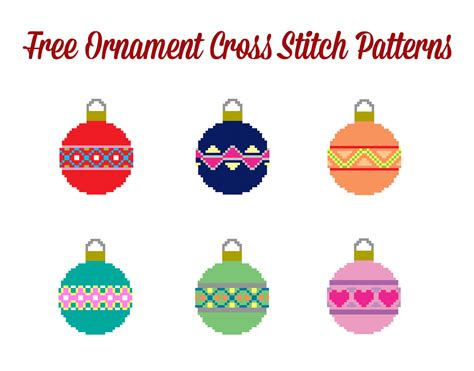 more free christmas ornament cross stitch patterns