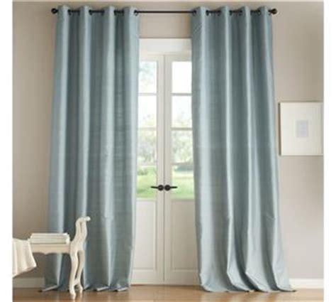 dupioni silk grommet drape s 2 pottery barn dupioni silk grommet drapes panels blue