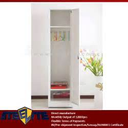 Thin Single Wardrobe Vertical Slim 1 Door Steel White Nursery Wardrobe Self