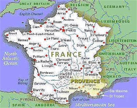 province france map of france provence 187 travel
