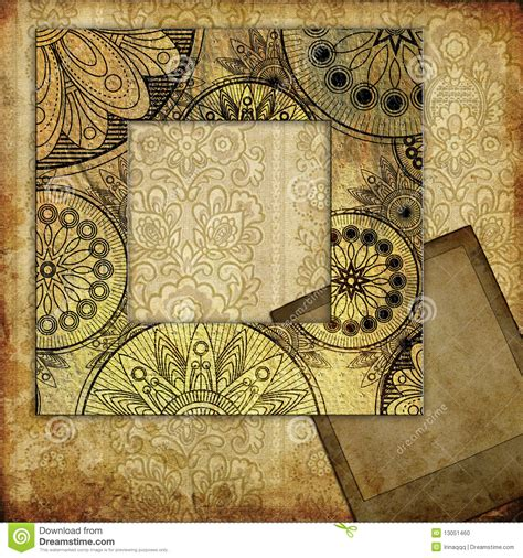 frame patterned wallpaper art frame on pattern wallpaper stock photo image 13051460