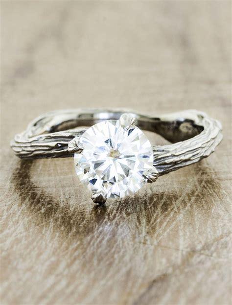 Bark Design Wedding Ring by Laurel