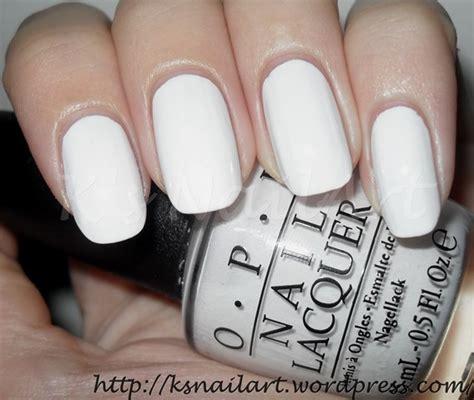 Opi Infinite Shine Alpine Snow nail collection on opi essie and sally hansen