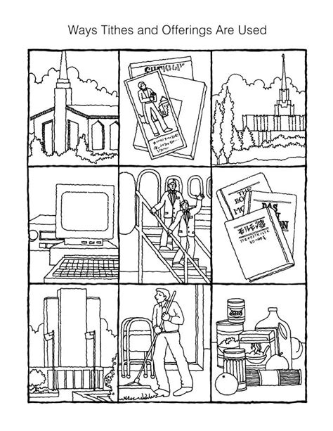 lds coloring pages on tithing tithing coloring page primary pinterest coloring
