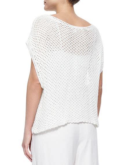 white open knit sweater ella moss open knit sweater white