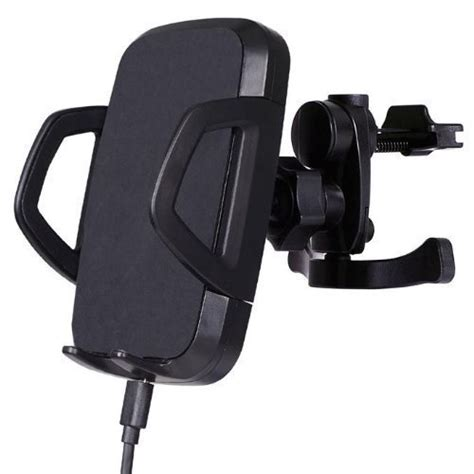 Wireless Car Charger With Air Vent Holder Powerqi C3a Black qi wireless charging car mount holder air vent