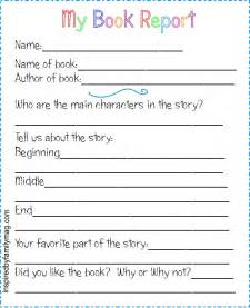 Book Report On Printable Book Report Forms Elementary Inspired By Family