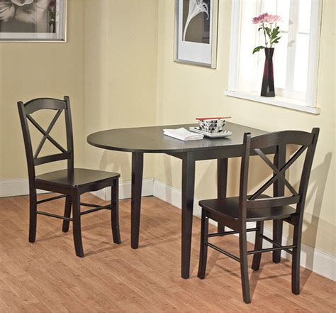 Simple Living Country Cottage Black Drop Leaf Dining Table Black Drop Leaf Kitchen Table