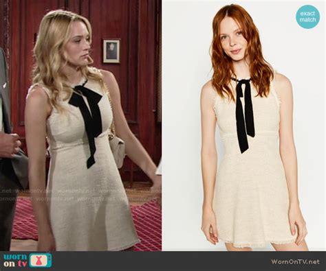 Dress Zara Tile wornontv summer s beige dress with frayed edges and black