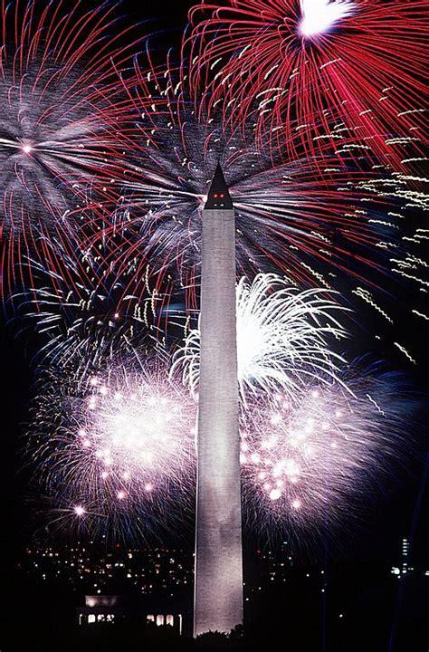 file fourth of july fireworks behind the washington