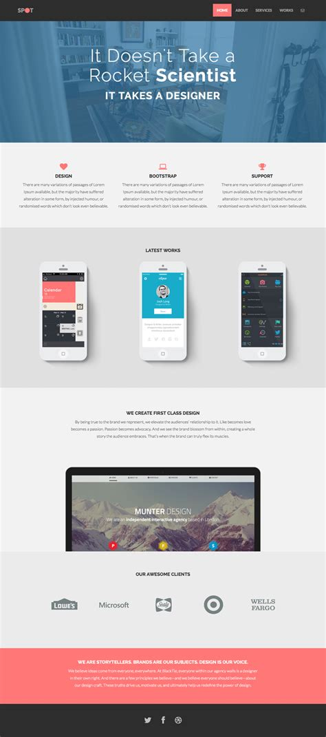 bootstrap themes free product spot freelance agency theme bootstrap