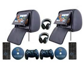 Car headrest dvd player mount headrest dvd player with