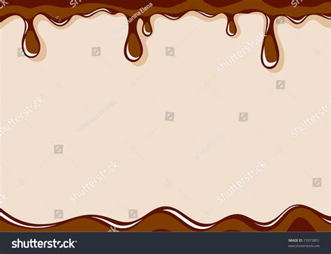 Vector Light Brown Background With Liquid Milk Chocolate   73973851 : Shutterstock