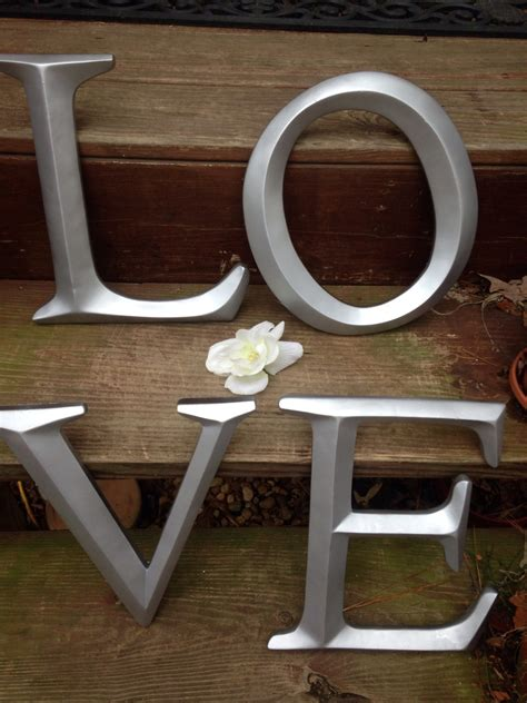 large letter wall decor wedding decor wedding prop shabby