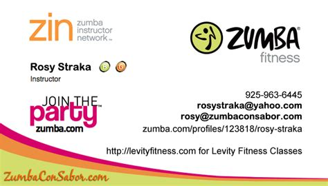 hannah mcenroe zumba business cards chat de baito zumba or