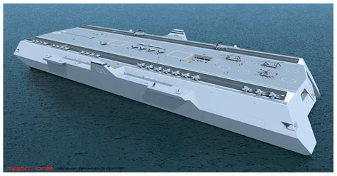 trimaran warship design maac one multihull air hibious carrier by g jenkins