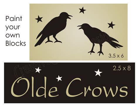 country primitive stencil 9 quot prim star scrapbook signs primitive country stencil olde crows black bird stars sign
