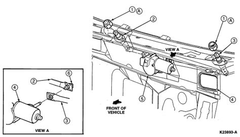 windshield wiper assembly diagram 1997 ford ranger wipers are frozen in up position fuse
