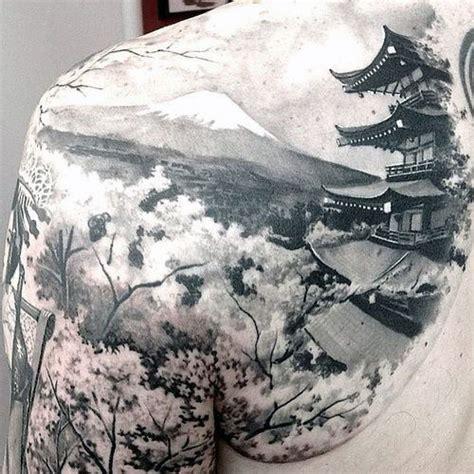 tattoo japanese temple 50 japanese temple tattoo designs for men buddhist ink ideas