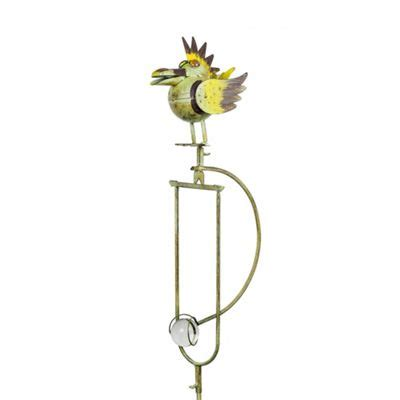 buy spike the rocking metal bird garden ornament from