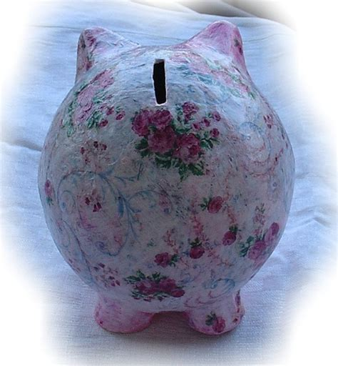 How To Make Paper Mache Piggy Bank - 96 best images about piggy banks on coins buy