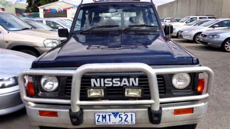 nissan patrol 1990 1990 nissan patrol gq st30 4x4 blue 5 speed manual 4x4