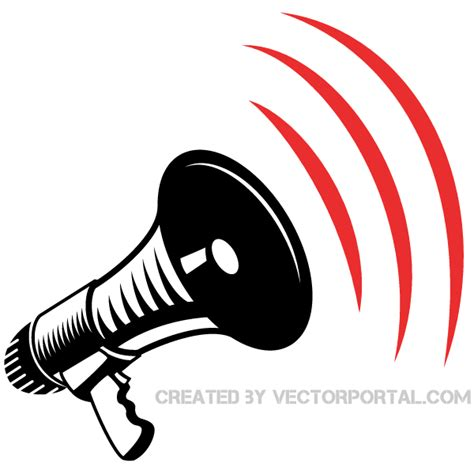 megaphone clipart megaphone clip image free vector free