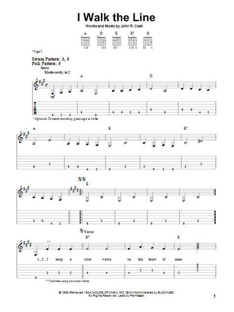 guitar tutorial johnny cash i walk the line by johnny cash easy guitar tab guitar